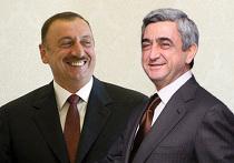 Президент Азербайджана Ильхам Алиев и президент Республики Армения Серж Саргсян