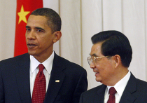 Барак Обама и Ху Цинтао