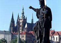 Вид на Пражский град с Карлова моста