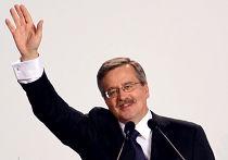 Новый президент Польши Бронислав Коморовский