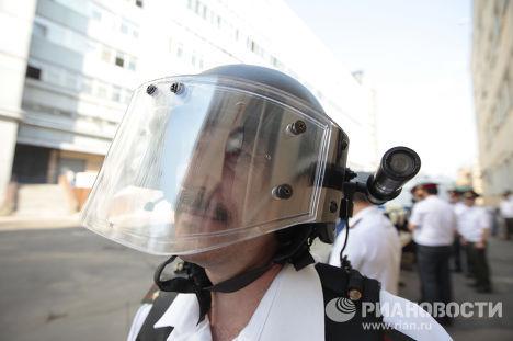 Демонстрация современной спецтехники и транспорта МВД РФ