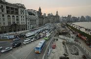 Пробки на дорогах китай шанхай