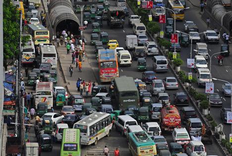Пробки на дорогах бангладеш дакка