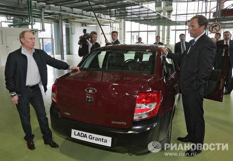 Рабочая поездка В.Путина в Тольятти