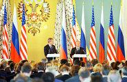В.Путин и Дж.Буш на совместной пресс-конференции в Москве