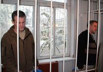 Летчики Владимир Садовничий (слева) и Владимир Руденко (справа), приговоренные во вторник в Таджикистане к 8,5 годам лишения свободы