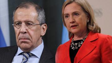 Сергей Лавров и Хилари Клинтон