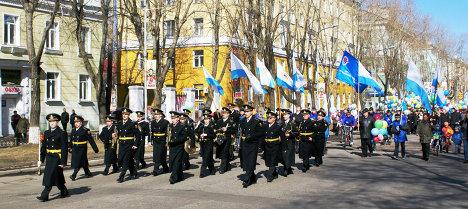 Первомайская демонстрация в Северодвинске