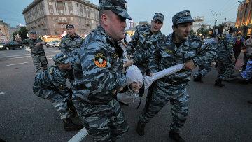 """Задержания участников сбора оппозиции на """"Баррикадной"""""""