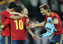Футбол. ЕВРО - 2012. Матч сборных Португалии и Испании