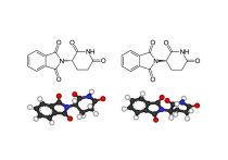 Схематическое изображение энантиомеров талидомида