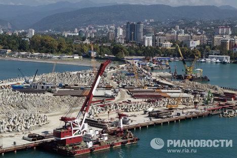 Строительство морского порта в Сочи