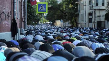 Празднование Ураза-байрам в Москве