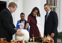Обама по случаю Дня благодарения помиловал индеек