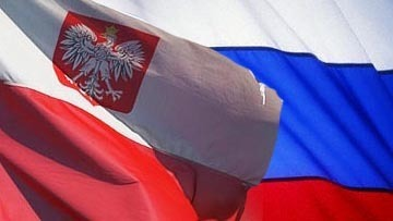 Флаги Польши и России