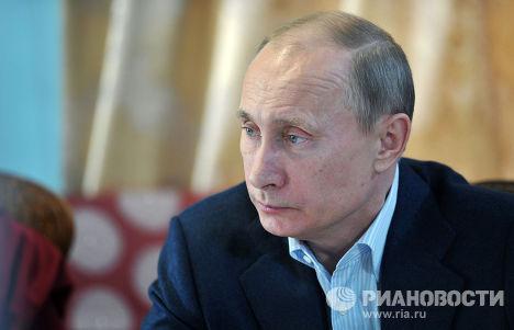 Президент России Владимир Путин в резиденции Пандито Хамбо ламы Д.Аюшеева
