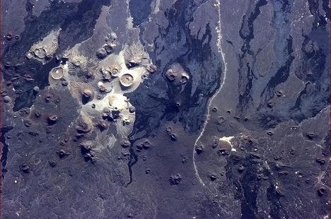 Снимок из космоса Саудовской Аравии