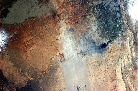 Космический снимок Сирии