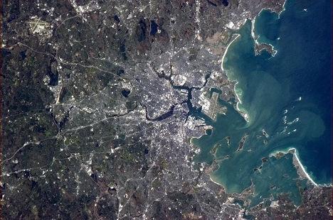 Космический снимок Бостона