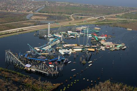 Парк развлечений «Шесть флагов» в Новом Орлеане