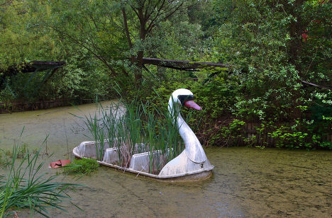 Заброшенный парк развлечений «Шприпарк» в Берлине