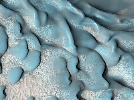 Движущиеся дюны на Марсе