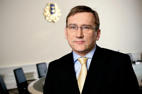 Министр экономики и коммуникаций Эстонии Юхан Партс