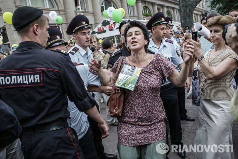 Акция, посвященная дню рождения Михаила Ходорковского