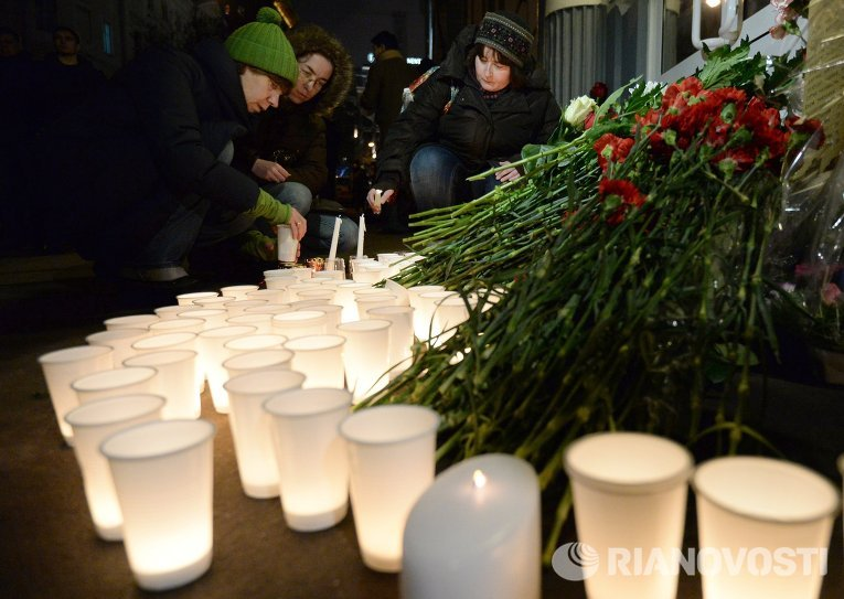 Акция памяти по погибшим в терактах в Волгограде