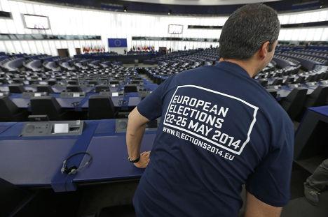 Зал Европарламента в городе Страсбург