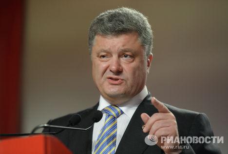 Петр Порошенко после окончания голосования на внеочередных выборах президента Украины