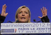 Предвыборное выступление Марин Ле Пен