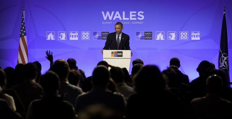 Президент США Барак Обама выступает на саммите НАТО в Уэльсе