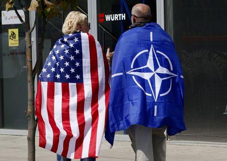 Демонстрация сторонников вступления Грузии в НАТО, Тбилиси