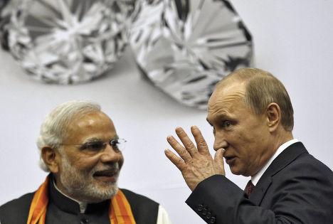 Владимир Путин и Нарендра Моди, визит Владимира Путина в Дели