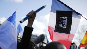 Участники марша единства в Париже