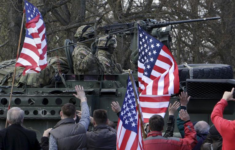 Американские танки в Рузыне, Чехия