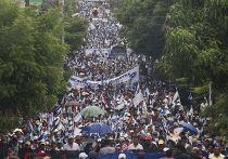 Акция протеста против строительства канала в Джуигальпе, Никарагуа