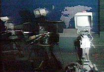 Государственный телевизионный центр в Белграде после авиаудара НАТО