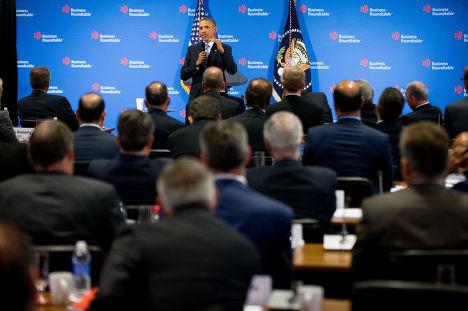 Выступление Барака Обамы перед членами «Делового круглого стола»