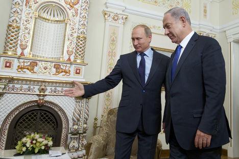 Встреча Владимира Путина с премьер-министром Израиля Биньямином Нетаньяху в резиденции Ново-Огарево