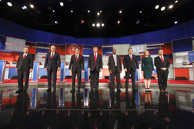 Четвертые дебаты между возможными кандидатами в президенты США от Республиканской партии в Милуоки