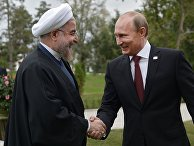Владимир Путин и президент Ирана Хасан Рухани на IV Каспийском саммите в Астрахани