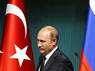 Владимир Путин на пресс-конференция в Президентском дворце в Анкаре