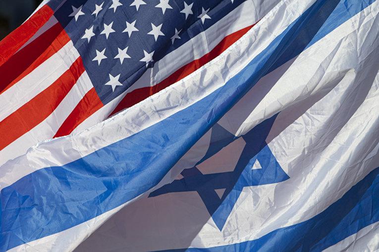 Флаги США и Израиля