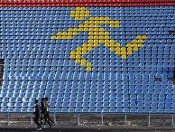 Спортсмены тренируются на стадионе в Ставрополе