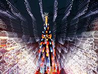 Новогодняя елка и иллюминация в городе