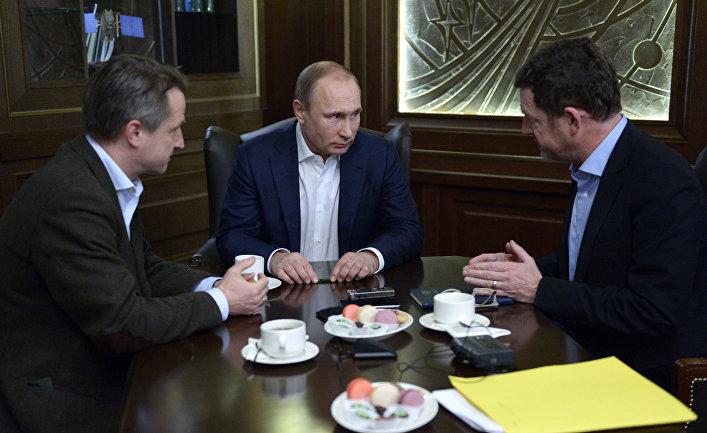 Президент РФ Владимир Путин дает интервью немецкой газете Bild