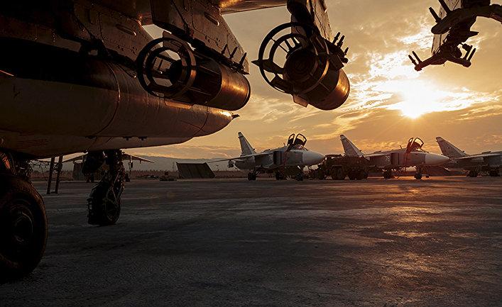 Российские штурмовики Су-25 на авиабазе «Хмеймим» в сирийской провинции Латакия