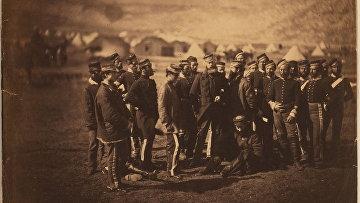 Солдаты, участвовашие в атаке легкой бригады во время Балаклавского сражения 1854 года, фотография Роджера Фентона